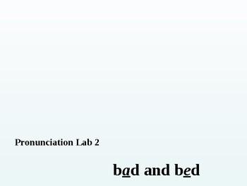 Pronunciation Labs #2