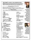 Pronunciation: Liaison & Reduction Practice-DON'T SPEAK by NO DOUBT (Rock music)