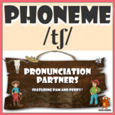 ★ Pronunciation Partners - /tʃ/ Articulation Word Search ★