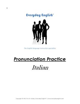 Pronunciation Practice (Italian)