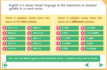 Pronunciation and syllable Practice