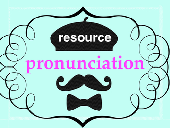 Pronunciation chart French - resource