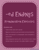 Pronunciation of -ed Endings - /t/, /d/, and /id/ {ESL Activities}