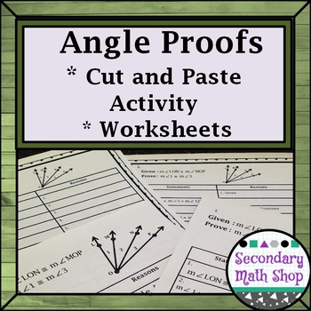 Proof - Logic - Angle Add/Relat. Proofs Cut & Paste Group