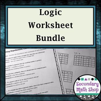 Proof - Logic - Unit Two: Logic Worksheets Mini - Bundle