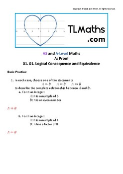 Proof - Logical Consequence and Equivalence Questions