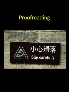 Proof Reading & Skimming