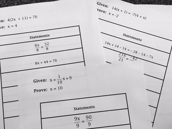 Proof - Segment, Algebraic and Angle Proofs Cut & Paste Group Activity + MORE!!!