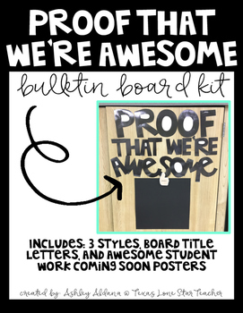 Proof That We're Awesome Board Kit