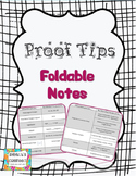 Proof Tips Foldable Notes