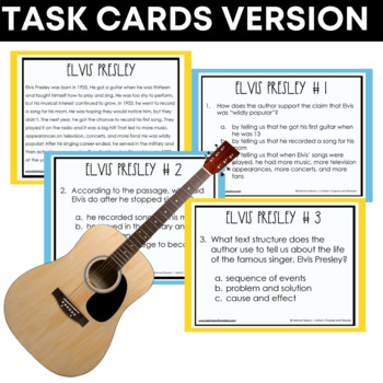 Proof and Evidence Task Cards - RI.4.8 {Nonfiction}