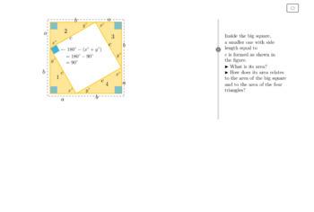 Proof of Pythagorean Theorem - Math - Interactive GeoGebra Applet