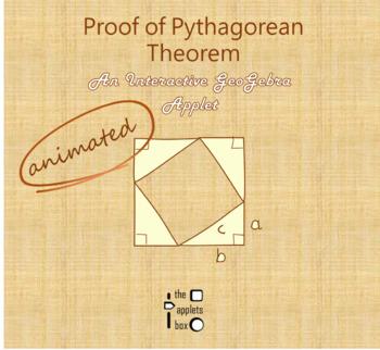 Proof Of Pythagorean Theorem Math Interactive Geogebra Applet