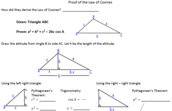 Proof of the Law of Cosines - Guided Student Notes