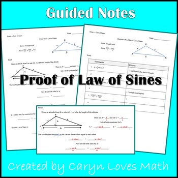 Proof of the Law of Sines - Guided Student Notes