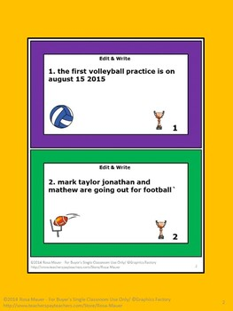 Proofread and Write Language Arts Bundle