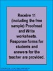 Proofread and Write Language Arts Worksheets for Review or Assessment