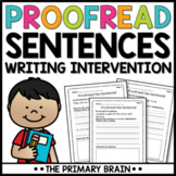 Proofreading and Editing Worksheets | Distance Learning
