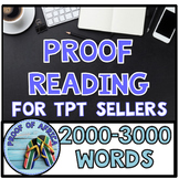 Proofreading 2000-3000 words