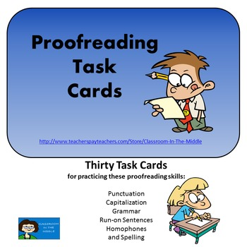 Proofreading - Task Cards