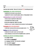Proofreading Checklist:  Student Friendly