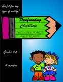 Proofreading Checklists - Includes RACE and RAPP