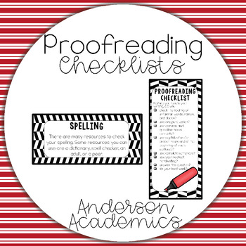 Proofreading Checklists & Small Posters
