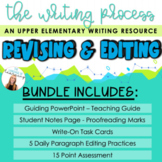 WRITING PROCESS BUNDLE: Revising & Editing Activities with