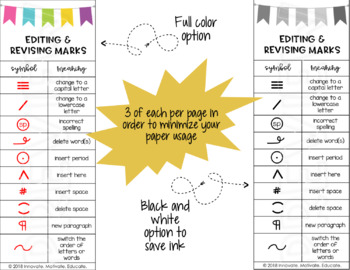 Proofreading/Editing Marks Posters & Bookmarks Bundle