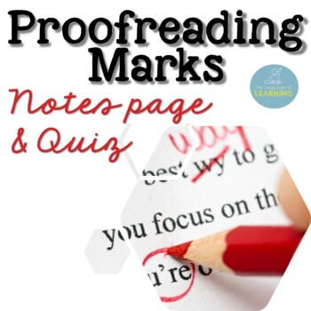 Proofreading Editing Marks Worksheet/Notes Page