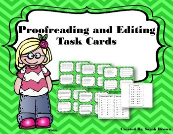 Proofreading & Editing Task Cards