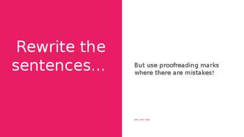 Proofreading Marks Practice