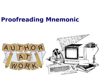 Proofreading Mnemonic Handout