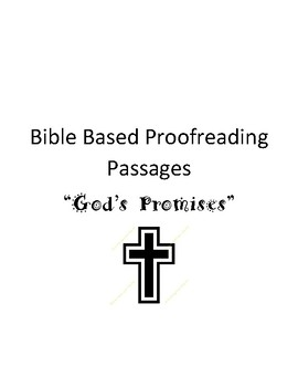 Proofreading Passages- Bible Based- God's Promises