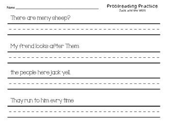 Proofreading Practice Journeys Unit 2