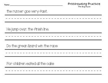 Proofreading Practice Journeys Unit 3