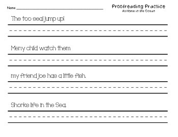Proofreading Practice Journeys Unit 3