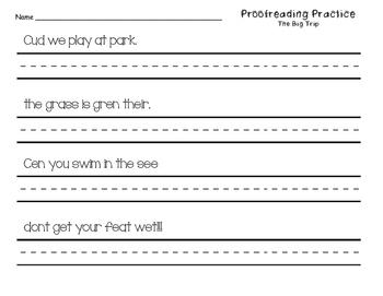 Proofreading Practice Journeys Unit 4