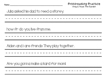 Proofreading Practice Journeys Unit 5