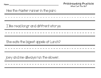 Proofreading Practice Journeys Unit 6