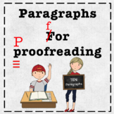 Proofreading Practice Paragraphs (use for Distance Learning)