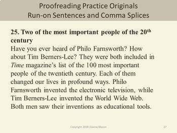 Proofreading Practice: Run-on Sentences and Comma Splices