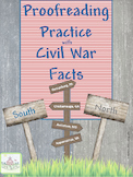 Proofreading Practice with Civil War Facts