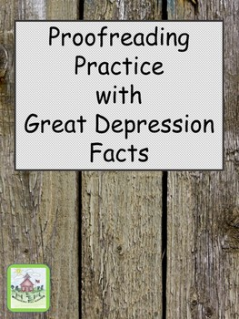 Proofreading Practice with Great Depression Facts