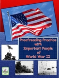 Proofreading Practice with Important People of World War II