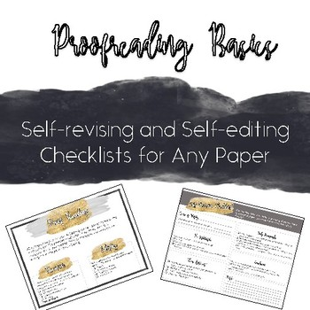 Revise Expository Checklist Worksheets Teaching Resources