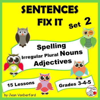 Editing Sentences: First Grade, Capitalization, Punctuation, Spelling