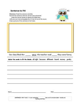Fix the Sentences: Ice Cream Shop | Sentences, Worksheets and ...