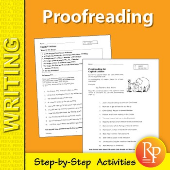 Proofreading: Step-by-Step Activities