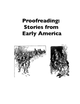 Proofreading Practice: Stories from Early America (Worksheets)